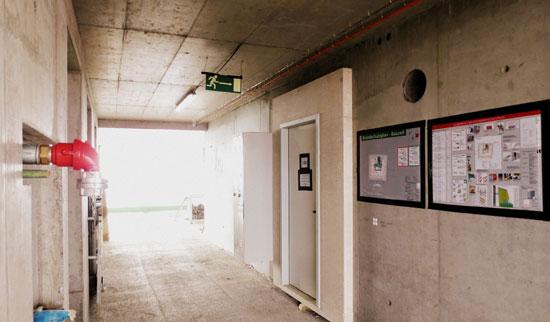 Umsetzung der Brandschutzanforderungen an einer Baustelle