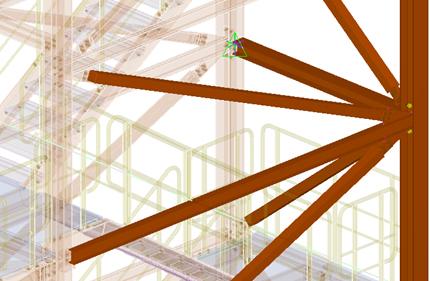 Visualisierte Gebäudestrukturen einer Baukonstruktion