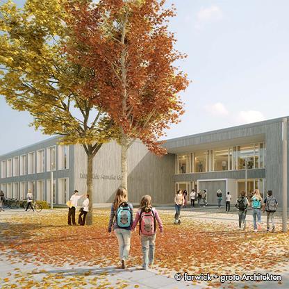 Neubau Gesamtschule Münster Ost in Holzbauweise